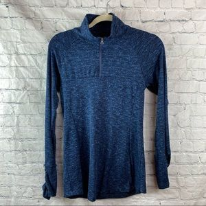Columbia Blue Marled 1/4 Zip Pullover Shirt